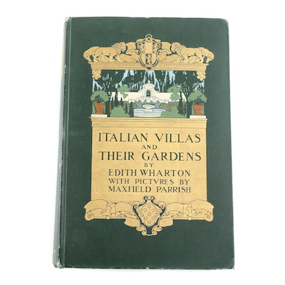 "Maxfield Parrish Illustrated ""Italian Villas and Their Gardens"" by Edith Wharton"