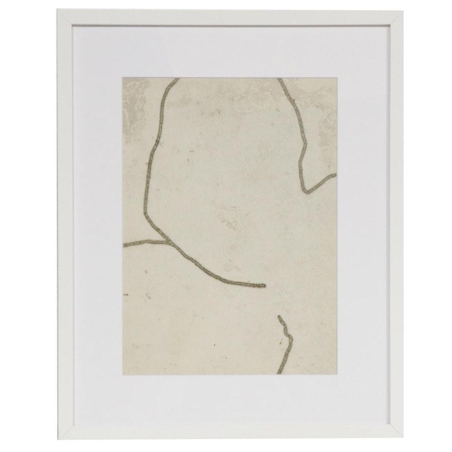 """François Fiedler Abstract Lithograph for """"Derrière le Miroir"""""""