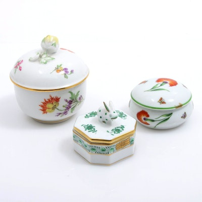 Tiffany & Co. for Gerard, Dufraisseix & Abbot and Other Porcelain Trinket Boxes