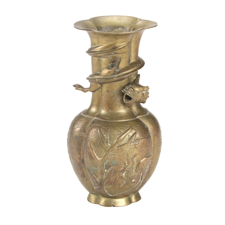 Chinese Bronze Vase with Dragon Motif