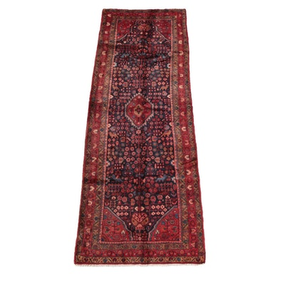 3'7 x 10'11 Hand-Knotted Persian Qashqai Wool Long Rug