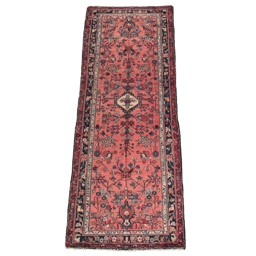 3'7 x 9'11 Hand-Knotted Persian Mehriban Wool Long Rug