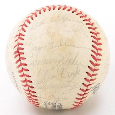 Los Angeles Dodgers 1978 Team Signed National League (Feeney) Baseball  COA