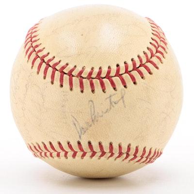 Cincinnati Reds 1968-69 Team Signed National League Baseball   COA