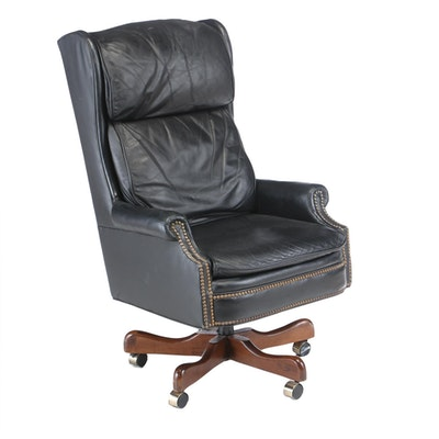 "Fairfield Chair Leather ""Wendell"" Executive's Chair, Late 20th Century"