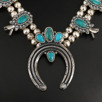 Sancrest Turquoise Squash Blossom Necklace