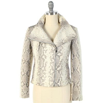 Michael Kors Python Skin Fitted Jacket