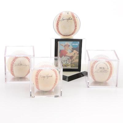 Harmon, Lynch, Pavletich and Helms Signed Baseballs   COA