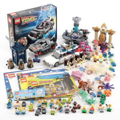 "LEGO ""Back to the Future,"" ""Doctor Who,"" ""Toy Story"", ""Spongbob,"" and Figures"