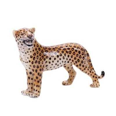 Italian Ceramic Leopard Figure