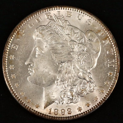 Better Date 1892 Morgan Silver Dollar