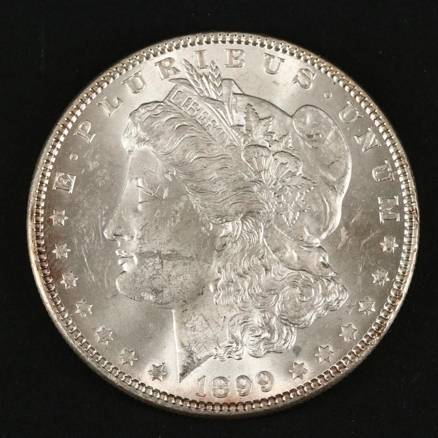 Key Date Low Mintage 1899 Morgan Silver Dollar