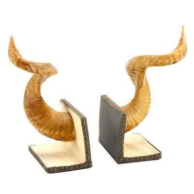 Ram Horn Bookends