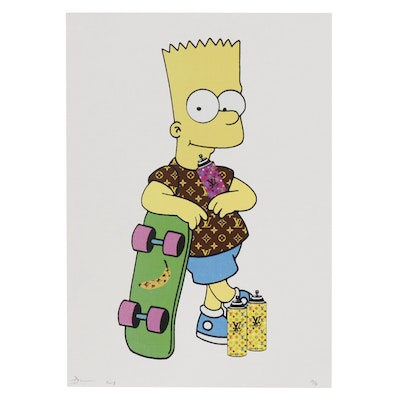 Death NYC Offset Lithograph Featuring Bart Simpson