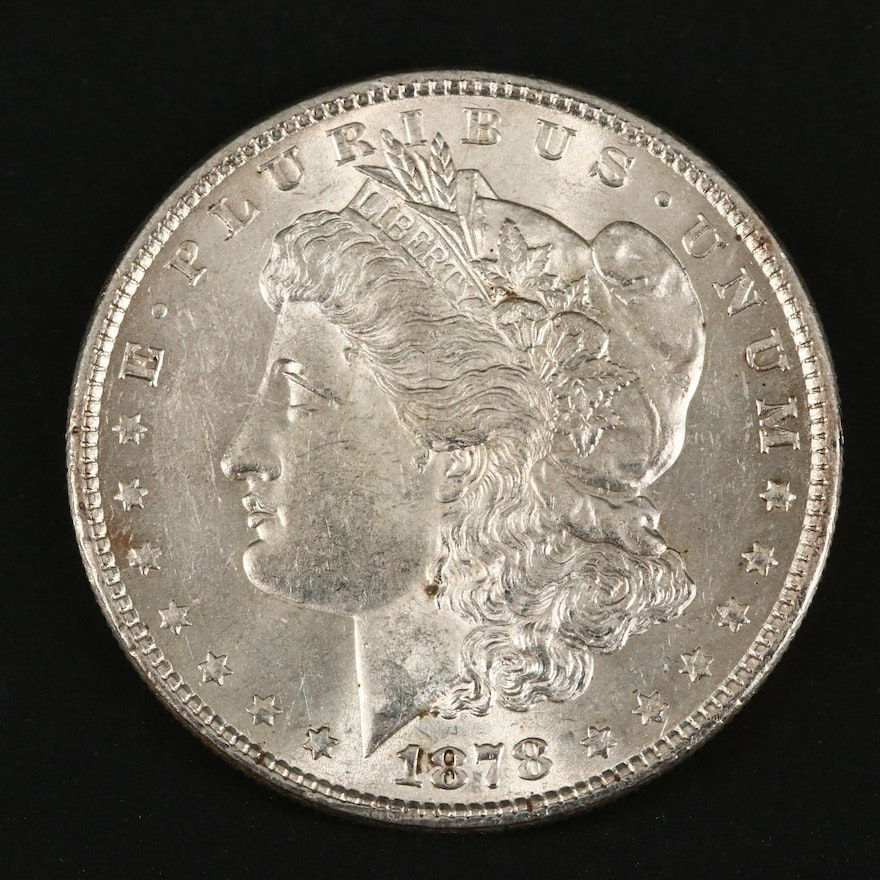1878 Morgan Silver Dollar, 8 Tail Feathers Variety