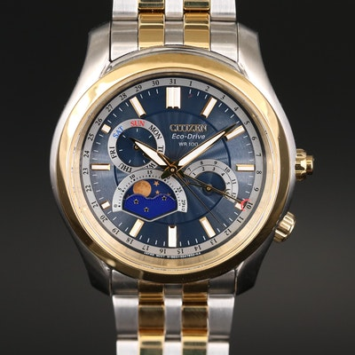 Citizen Eco - Drive Moon Phase Stainless Steel Wristwatch
