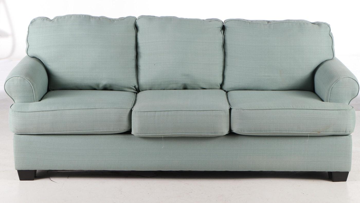 Ashley Furniture Light Blue Upholstered Sofa Ebth