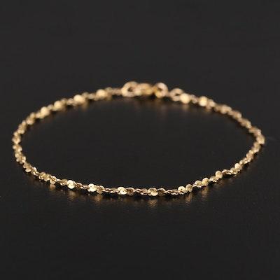 14K Yellow Gold Twisted Serpentine Bracelet