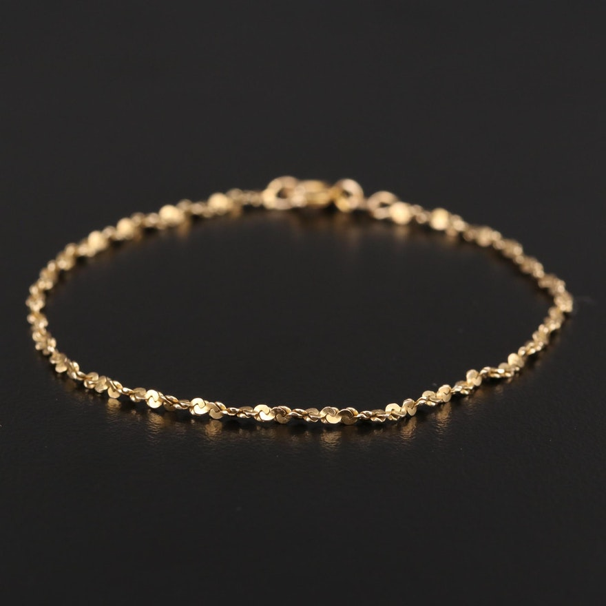 14K Yellow Gold Twisted Serpentine Bracelet