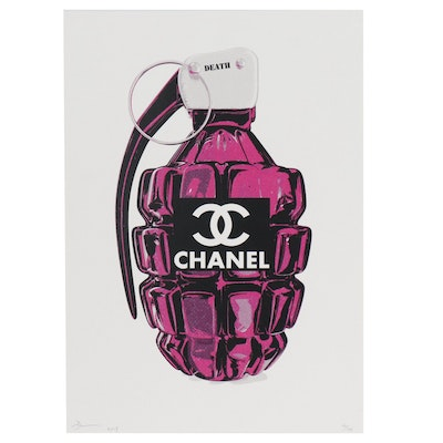 "Death NYC Offset Lithograph ""CC Bomb Pink"""