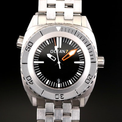 Ocean 7 Stainless Steel Automatic Dive Wristwatch