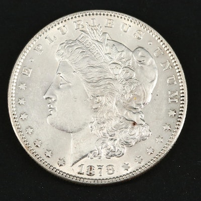 1878 Morgan Silver Dollar, 7TF, Second Reverse Variety