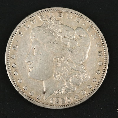 Key Date Low Mintage 1893 Morgan Silver Dollar