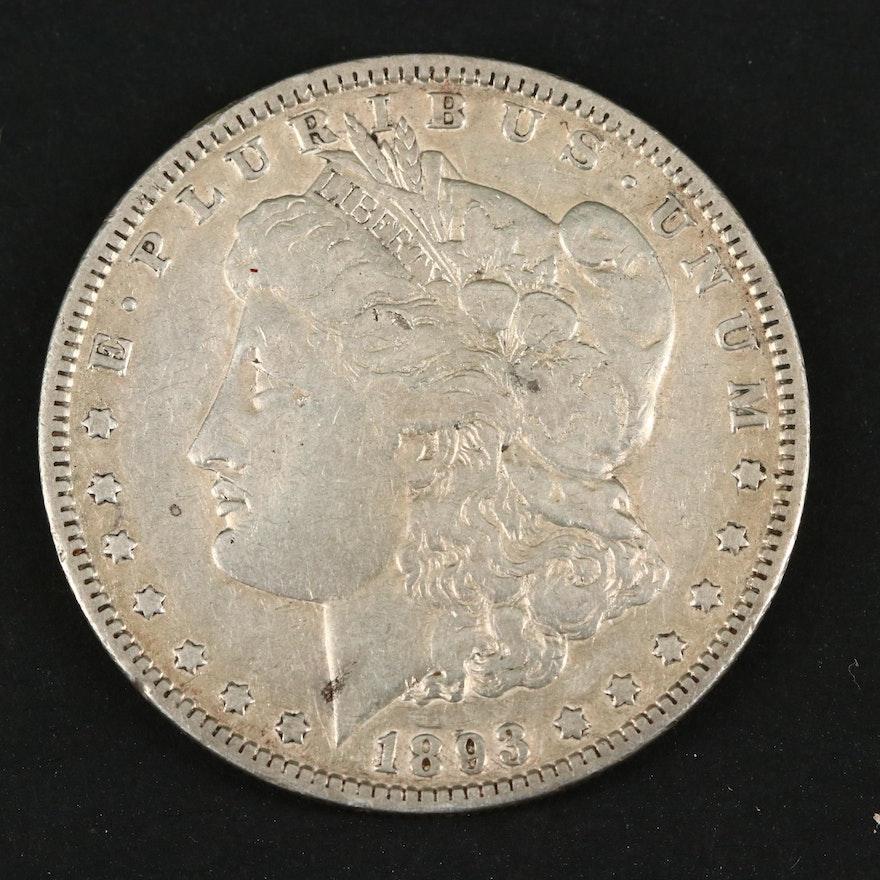 Key Date Low Mintage 1893 Morgan Silver Dollar