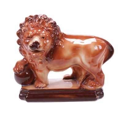 Staffordshire Ceramic Lion