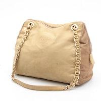 Prada Leather and Nylon Chain Strap Shoulder Bag