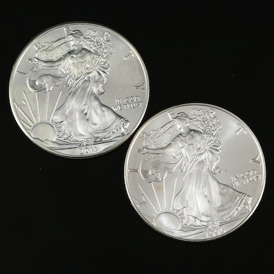 2011 and Better Date 1996 American Silver Eagle Bullion Coins