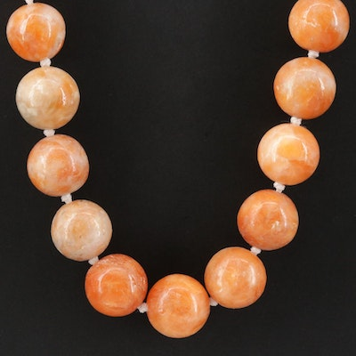 Sterling Silver Serpentine Beaded Necklace