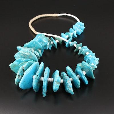 Southwestern Style Turquoise Beaded Necklace