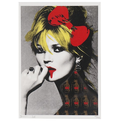 "Death NYC Offset Lithograph ""Kate Bomb"""