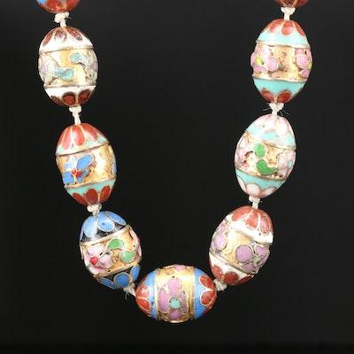 Enamel Cloisonné Beaded Necklace