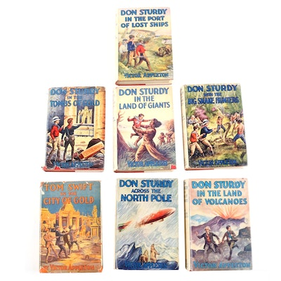 """Don Sturdy"" Book Collection with ""Tom Swift in the City of Gold"", Vintage"