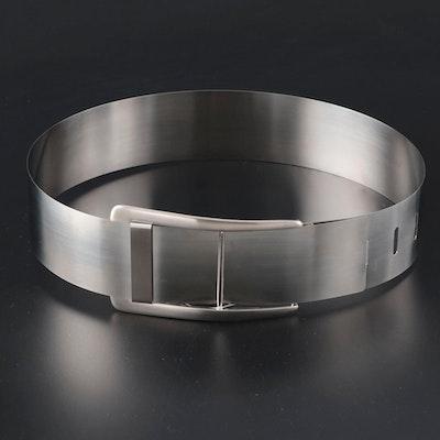 Ralph Lauren Black Label Stainless Steel Strip Belt