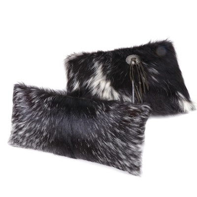 Nubian Goat Fur Pelt Accent Pillows