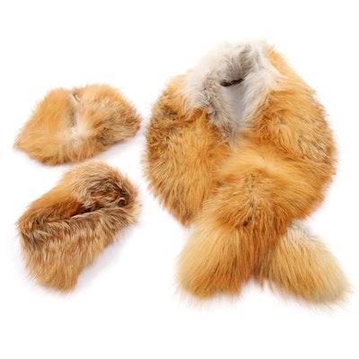 Red Fox Fur Collar and Cuffs