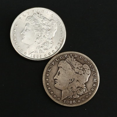 1885 and Better Date 1886-S Morgan Silver Dollars