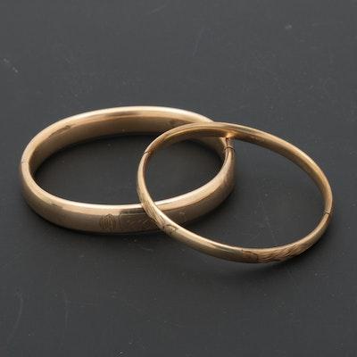 VIntage Gold Filled Hinged Bangle Bracelets
