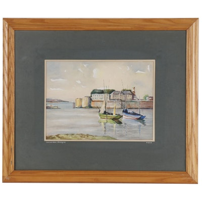 """Landscape Watercolor Painting """"Concarneau (Bretagne)"""""""