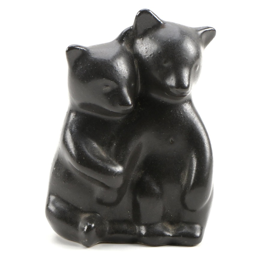 Pigeon Forge Pottery Bear Cubs Figurine