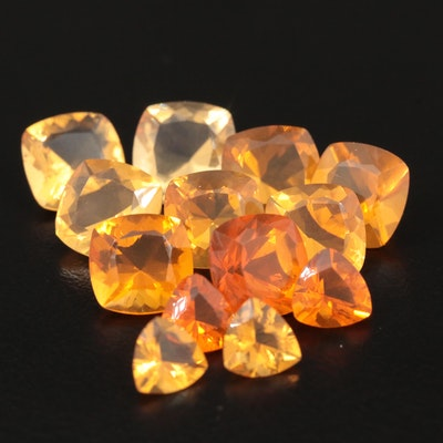 Loose 11.62 CTW Fire Opal Gemstones