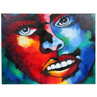 "Oluwakemi Omowaire Oil Painting ""Daydreams,"" 2019"