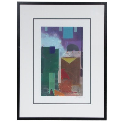 J. R. Griffin Abstract Serigraph, Late 20th Century