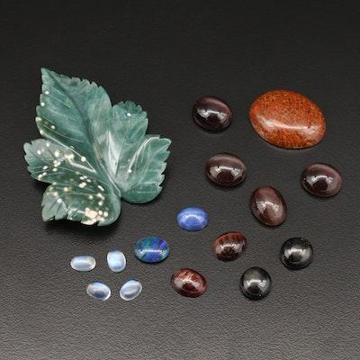 Loose 141.66 CTW Gemstones Including Jasper, Tiger's Eye, Opal and More