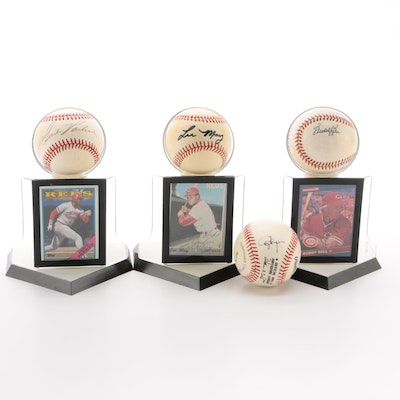 Parker, Bell, May and Flynn Signed Baseballs and Cards   COA