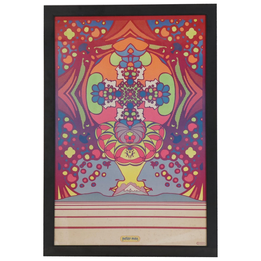 "Lithographic Poster after Peter Max ""2000 Years"""