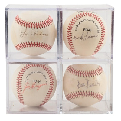 Lawrence, Cardenas, Greengrass and Bristol Signed Baseballs    COA